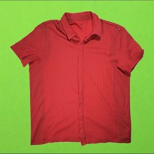 Armani Exchange pin stripe button up Polo shirt